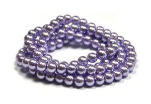 Zvětšit fotografii - Voskované perle 6 mm, 140 ks, světle fialová