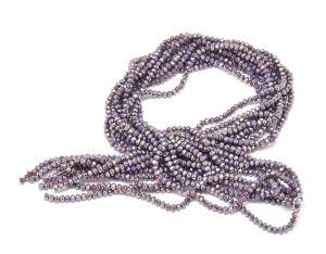 Slavík 4x3 mm, 140 ks, plnobarevná lila s AB pokovem