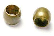 Zamačkávací rokajl kuličky 2 mm, 100 ks, starozlatá