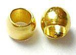 Zamačkávací rokajl kuličky 2 mm, 100 ks, zlatý