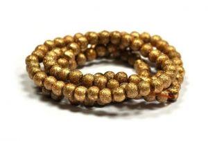 Korálky 8 mm, 108 ks, zlaté
