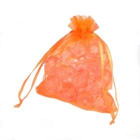 Organzový sáček 10x12 cm, oranžový