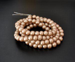 Voskované perle 8 mm, 106 ks, matná zlatá