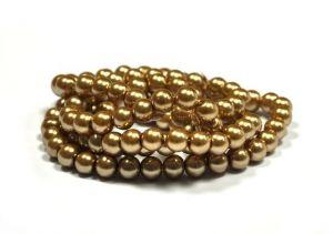 Voskované perle 8 mm, 106 ks, peru