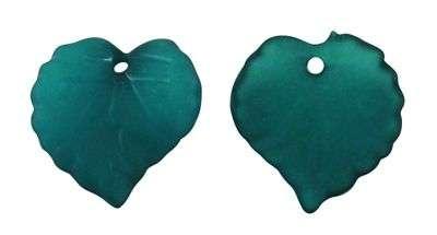 Akrylový lístek tyrkysově zelená 20 ks