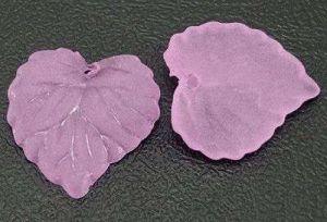 Akrylový lístek růžový 2 ks