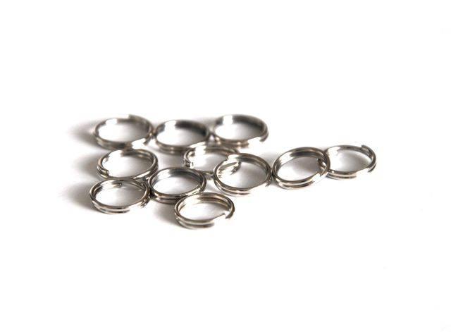 Dvojitý kroužek 100 ks 6 mm, platinová