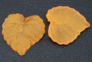Akrylový lístek oranžová 2 ks