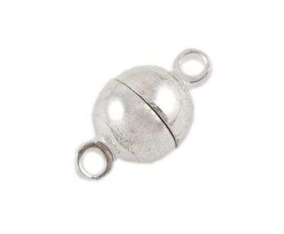 Magnetické zapínání 12x6 mm, stříbrná