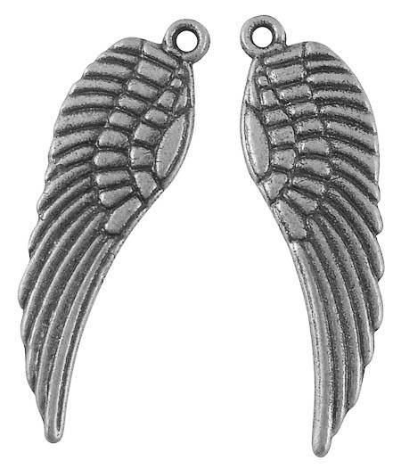 Křídlo anděla 30 mm, 20 ks, starostříbro