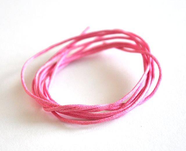 Voskovaná šňůra 1 m, růžová