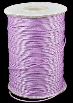 Voskovaná šňůra lesklá 1 mm, cena za 1m, světle fialová