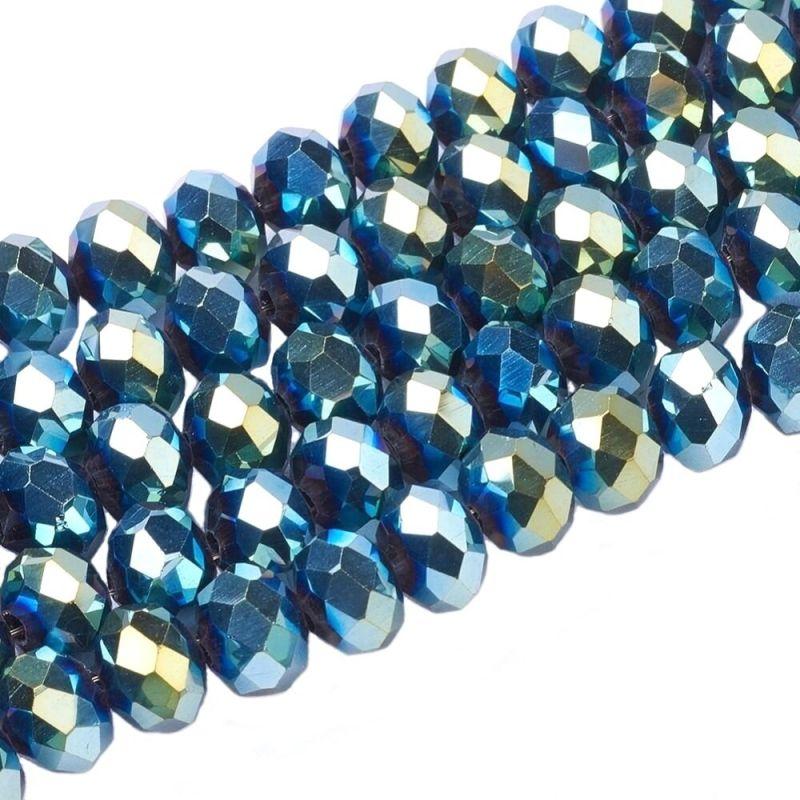 Slavík 6x4 mm, 100 ks, modrý a zlatý pokov