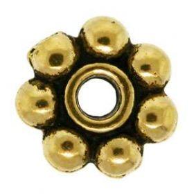 Květ 4 mm 10 ks, zlatá antik