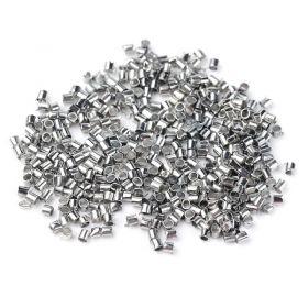 Zamačkávací rokajl trubičky 1,5 mm, 100 ks, platinový