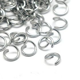 Spojovací kroužek otevřený 4x0,8 mm, 100 ks, chirurgická ocel 304