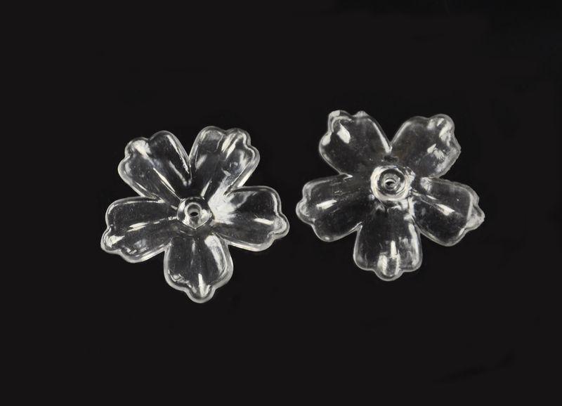 Akrylový květ 29 mm, 2 ks, transparentní