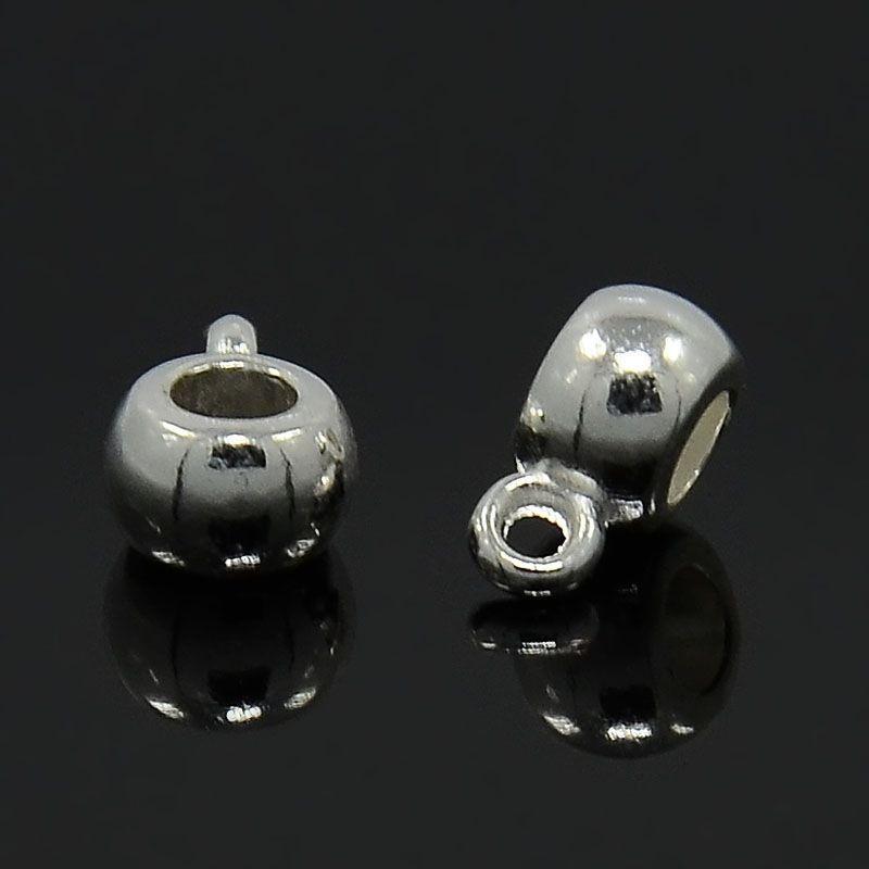 Závěs 9x5,8 mm, stříbrný