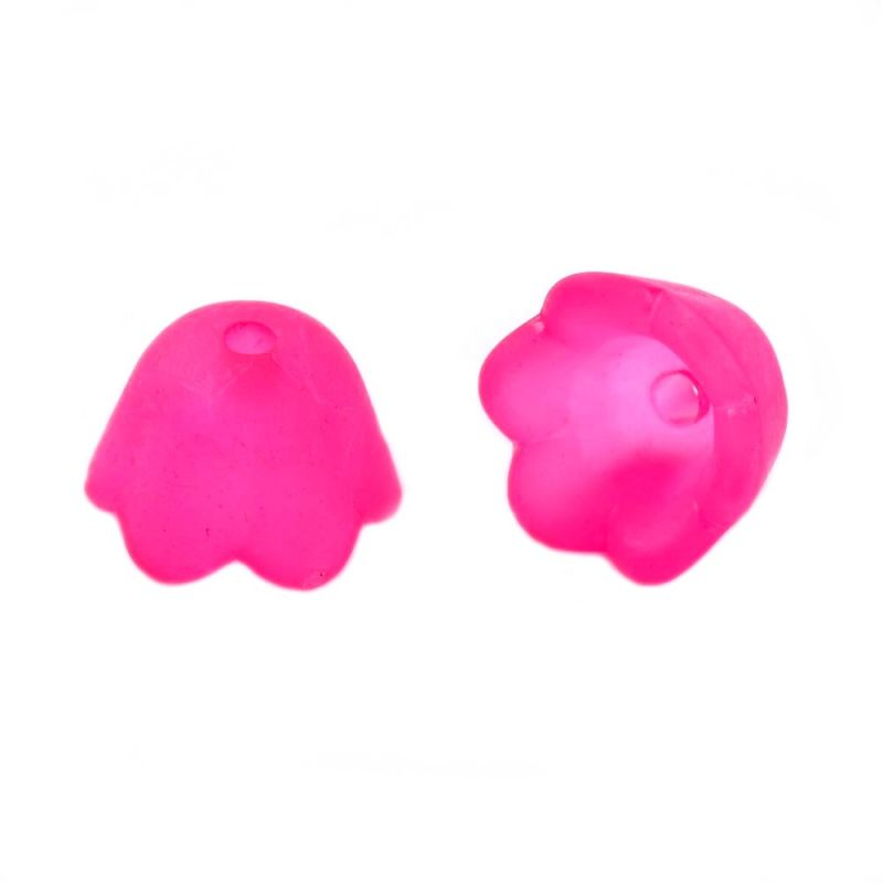 Zvonek malý 10x6 mm, 2 ks, tmavě růžový