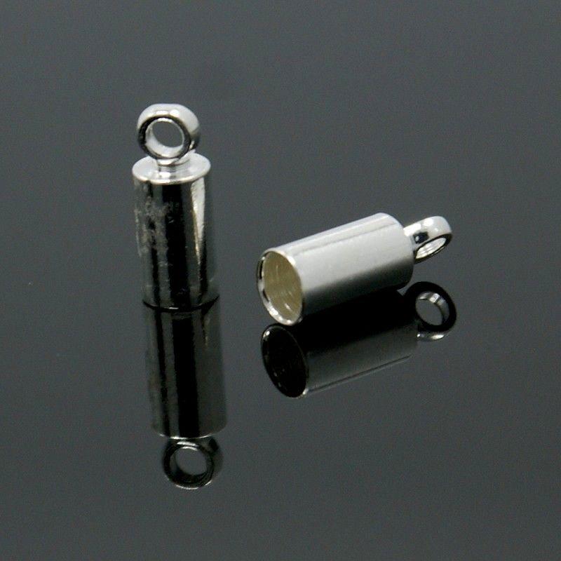 Koncovka 9x3,5 mm, vnitřní průměr 3 mm, 2 ks, stříbrná