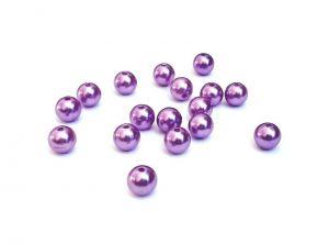 Imitace perly 10 mm, 20 ks, fialová