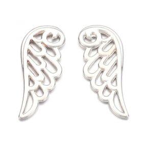 Křídlo anděla 24 mm, 20 ks, platinové