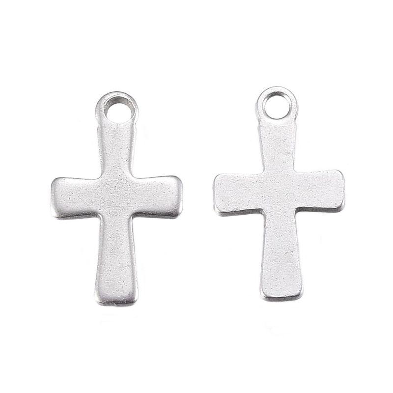 Mini křížek z chirurgické oceli 12x0,7 mm, 20 ks