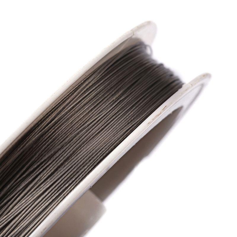 Ocelové lanko 0,38 mm, 50 metrů na špulce, platinová barva