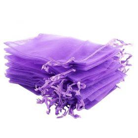 Organzový sáček 12x10 cm, tmavě fialový