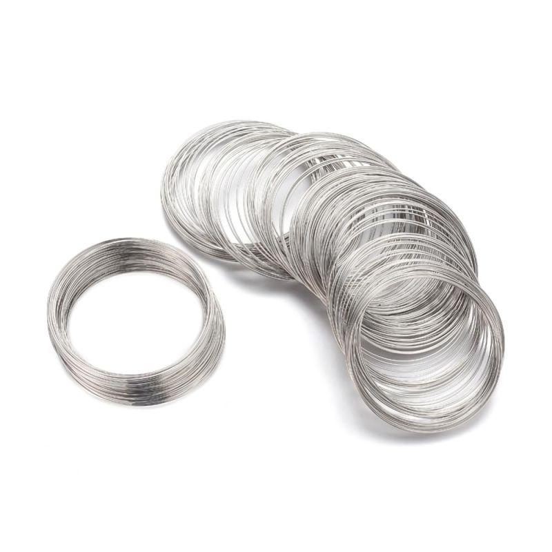 Paměťový drát 55x0,6 mm, 20 otoček, platinový