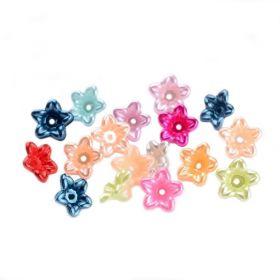 Perleťový mini zvonek 10x5 mm, 50 ks, mix barev