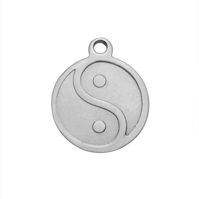 Přívěsek se symbolem Jin a Jang z chirurgické oceli 14x12 mm, 10 ks