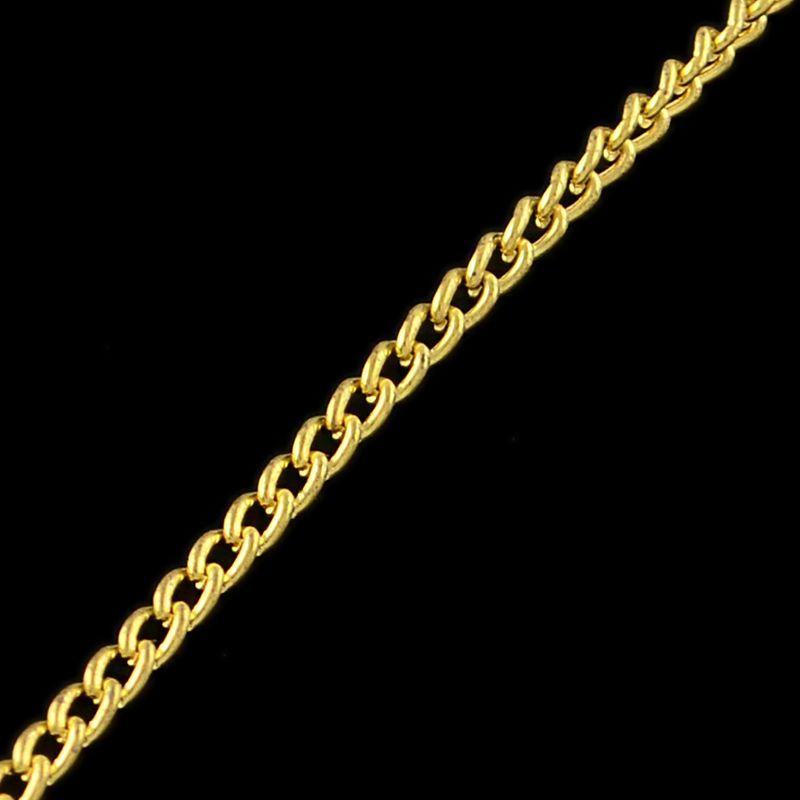 Řetízek s článkem 2,5x1,6 mm, 1 m, zlatá barva