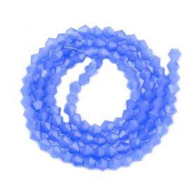 Skleněné sluníčko 4x4 mm, 105 ks, imitace jadeitu - modrá