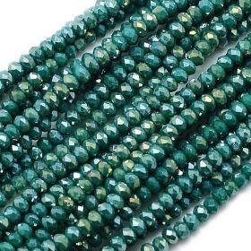 Slavík 3x2 mm, 138 ks, plnobarevná tmavě zelená s AB pokovem