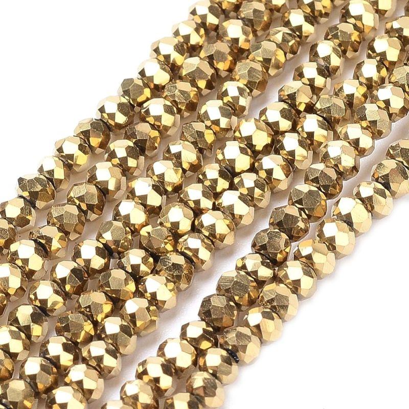 Slavík 4x3 mm, 150 ks, zlatý pokov