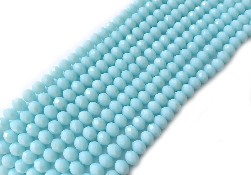 Slavík 8x6 mm, 72 ks, plnobarevná akvamarínová