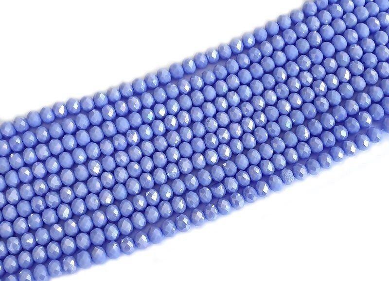 Slavík 8x6 mm, 72 ks, plnobarevná lila s AB pokovem