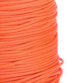 Voskovaná šňůra lesklá 1 mm, cena za 1m, signální oranžová