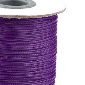 Voskovaná šňůra lesklá 1 mm, cena za 1m, tmavě fialová