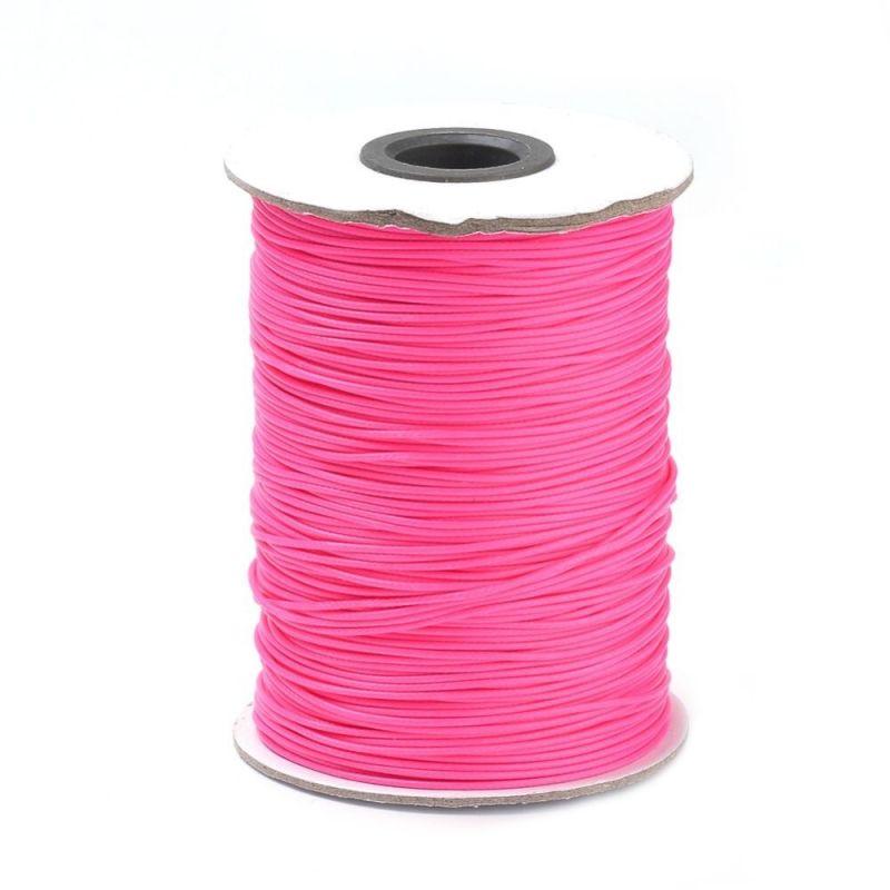 Voskovaná šňůra lesklá 1 mm, cena za 1m, růžová