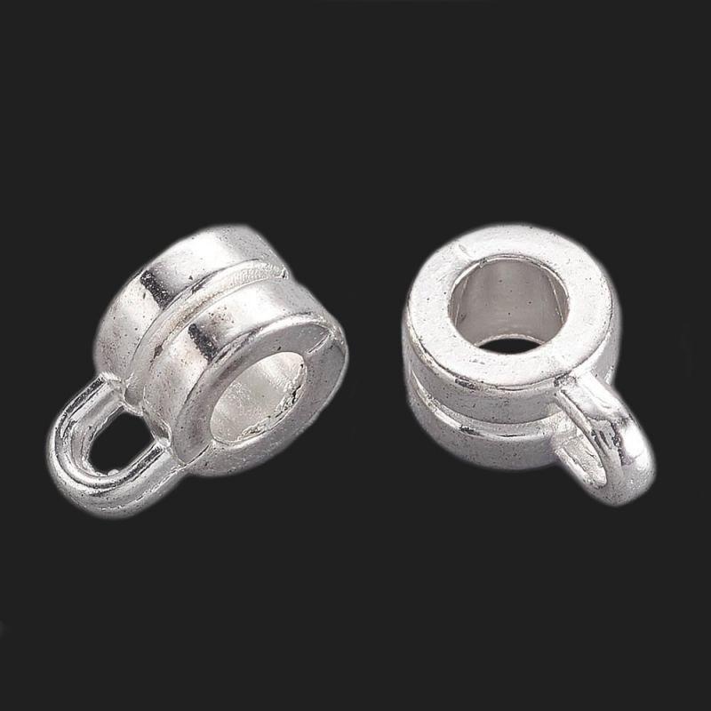 Závěs 9x6x4 mm, 20 ks, stříbrný