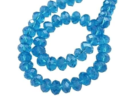 Slavík 4x3 mm, 149 ks, mořská modrá s lustrovým pokovem