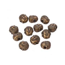 Korálek hlava Buddhy 8x7 mm, bronzová barva