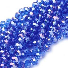 Slavík 6x4 mm, 94 ks, královská modrá s AB pokovem