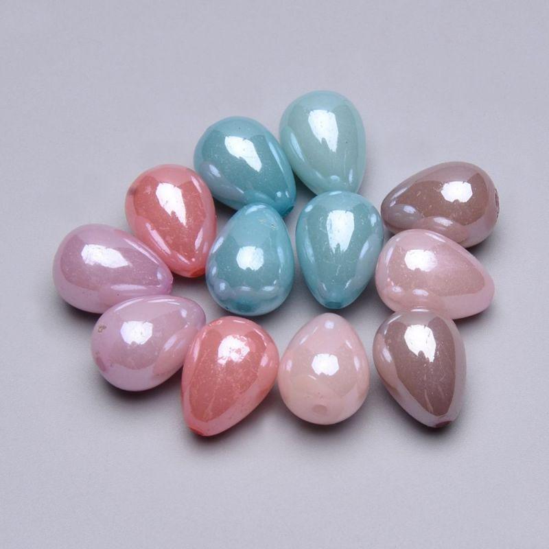 Akrylový drop 16x12 mm, 20 ks, mix barev