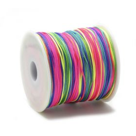 Polyesterová šňůra 0,8 mm, 1 metr, mix barev