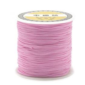 Polyesterová šňůra 0,8 mm, 1 metr, světle růžová