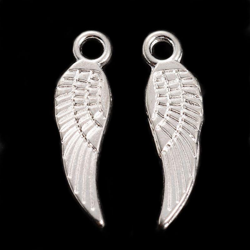 Přívěsek křídlo malé 17 mm, 20 ks, stříbro
