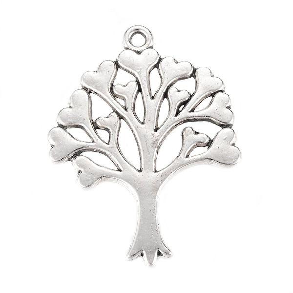 Přívěsek strom života 33x25 mm, 10 ks, starostříbrná barva